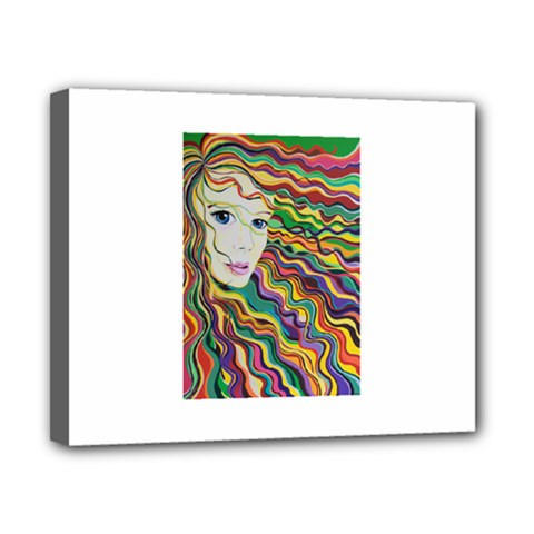 Inspirational Girl Canvas 10  X 8  (framed)