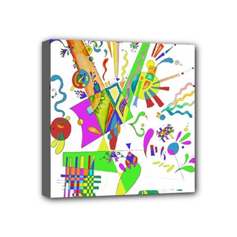 Splatter Life Mini Canvas 4  X 4  (framed)