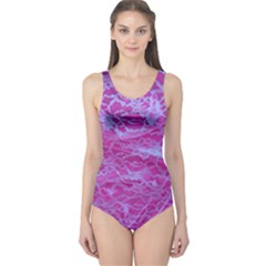 Pink Lace  Women s One Piece Swimsuit