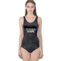Wake&vape Leopard  Women s One Piece Swimsuit