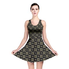 Angels Skull Pattern Reversible Skater Dress