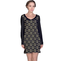 Angels Skull Pattern Long Sleeve Nightdress