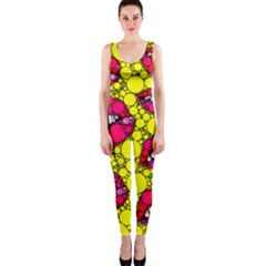 Sassy Lips Abstract Onepiece Catsuit