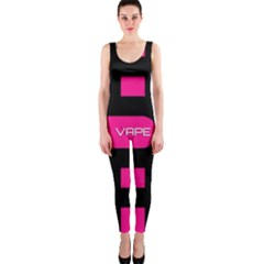 Hot Pink Black Vape  OnePiece Catsuit