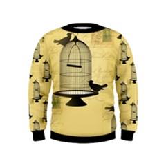Victorian Birdcage Kid s Sweatshirt