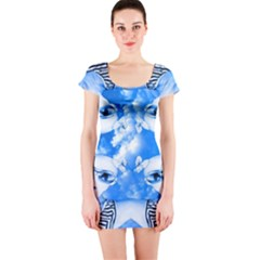 Skydivers Short Sleeve Bodycon Dress