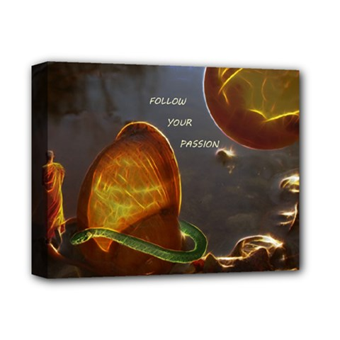 Follow Your Passion Deluxe Canvas 14  X 11  (framed)