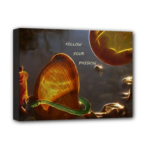 Follow Your Passion Deluxe Canvas 16  X 12  (framed)