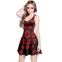 Red Alaun Crystal Mandala Reversible Sleeveless Dress