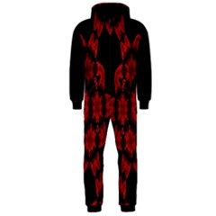Red Alaun Crystal Mandala Hooded Onepiece Jumpsuit (men)