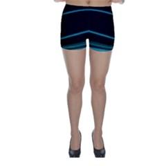 Dark Abstract Print Skinny Shorts