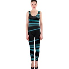 Dark Abstract Print OnePiece Catsuit