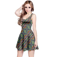 Colorful Tribal Geometric Print Reversible Sleeveless Dress