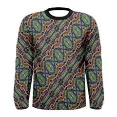 Colorful Tribal Geometric Print Men s Long Sleeve T-shirt