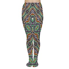 Colorful Tribal Geometric Print Tights