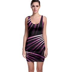 Bending Abstract Futuristic Print Bodycon Dress