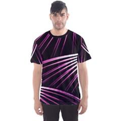 Bending Abstract Futuristic Print Men s Sport Mesh Tee