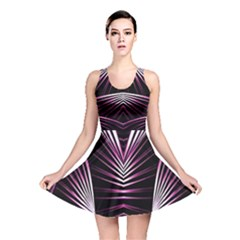 Bending Abstract Futuristic Print Reversible Skater Dress