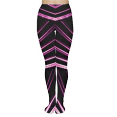 Bending Abstract Futuristic Print Tights