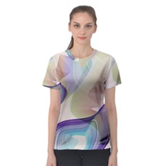 abstract cowcow Women s Sport Mesh Tee
