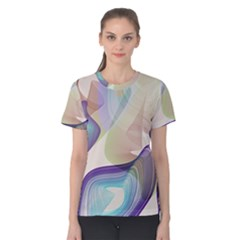 abstract cowcow Women s Cotton Tee