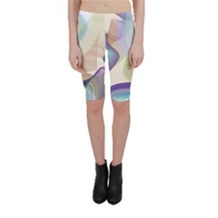 Abstract Cropped Leggings