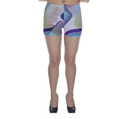 Abstract Skinny Shorts