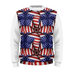 4th of July Modern Pattern Print Men s Sweatshirt