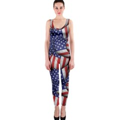 4th of July Modern Pattern Print OnePiece Catsuit