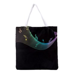 Musical Wave Grocery Tote Bag