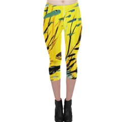 Yellow Dream Capri Leggings