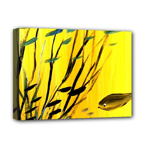 Yellow Dream Deluxe Canvas 16  X 12  (framed)