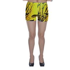 Yellow Dream Skinny Shorts