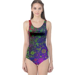 Animal Print Abstract  Women s One Piece Swimsuit