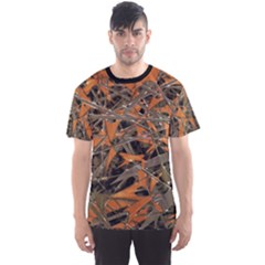 Intricate Abstract Print Men s Sport Mesh Tee