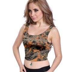 Intricate Abstract Print Crop Top