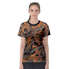 Intricate Abstract Print Women s Sport Mesh Tee