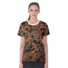 Intricate Abstract Print Women s Cotton Tee