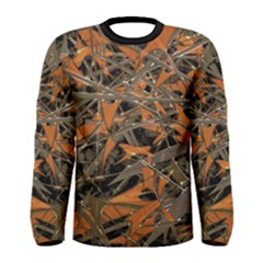 Intricate Abstract Print Men s Long Sleeve T Shirt