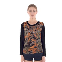 Intricate Abstract Print Women s Long Sleeve T-shirt