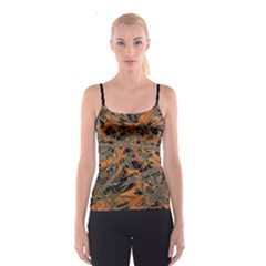 Intricate Abstract Print Spaghetti Strap Top