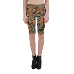 Intricate Abstract Print Cropped Leggings