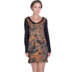 Intricate Abstract Print Long Sleeve Nightdress