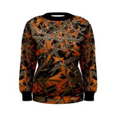 Intricate Abstract Print Women s Sweatshirt