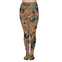 Intricate Abstract Print Tights