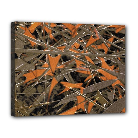 Intricate Abstract Print Canvas 14  X 11  (framed)