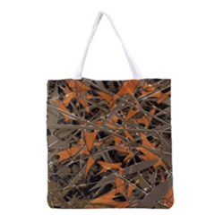 Intricate Abstract Print Grocery Tote Bag