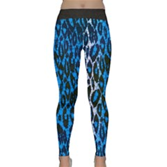 Florescent Blue Cheetah  Yoga Leggings
