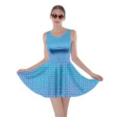 Textured Blue & Purple Abstract Skater Dress