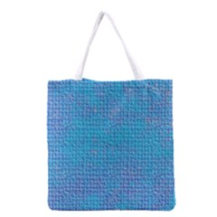 Textured Blue & Purple Abstract Grocery Tote Bag